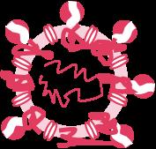 Aufbau und Schwachstellen des Coronavirus, die für Hygiene im Alltag wichtig sind - Aufbau und Schwachstellen des Coronavirus - Denaturierte Proteine eines behüllten Virus.